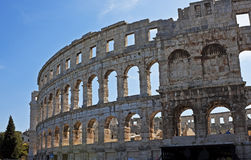 Roman amfitheater, Pula, Kroatië Stock Afbeelding