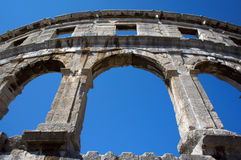 Roman amfitheater in Pula stock foto