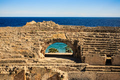 Roman amfitheater in Tarragona Stock Foto's