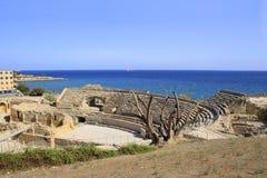Roman amfitheater van Tarragona stock afbeelding