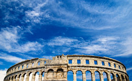 Roman amphiteater in Pula, Croatia Royalty Free Stock Photo