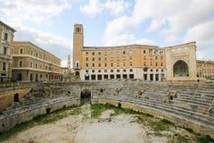 Roman Amphiteatre (2ème siècle) dans Lecce, Pouilles, Italie Photos libres de droits