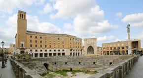 Roman Amphiteatre (2ème siècle) dans Lecce, Pouilles, Italie Photographie stock libre de droits
