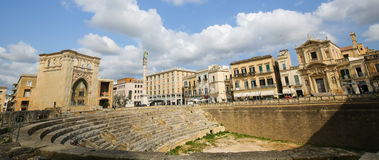 Roman Amphiteatre (2nd Century) in Lecce, Apulia, Italy Royalty Free Stock Photos