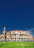 Roman amphitheater. Tourists outside the Roman Colosseum waiting to visit royalty free stock photography
