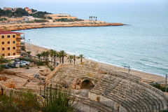 Roman amphitheater. Ruins of Tarragona amphitheater (Catalonia, Spain Stock Images
