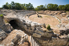 The Roman Amphitheater Royalty Free Stock Photo