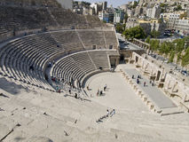Roman amphitheater in Amman, J Royalty Free Stock Photo
