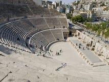Roman amphitheater in Amman, J royalty free stock photo