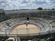 Roman amphitheater at Arles Royalty Free Stock Photo