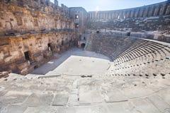 Roman amphitheater of Aspendos, Belkiz, Antalya, Turkey Stock Image