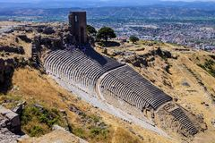 Roman amphitheater, Bergama, Turkey Royalty Free Stock Photos