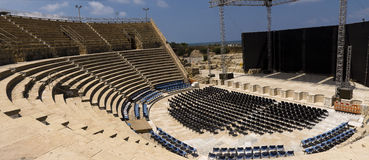 Roman amphitheater Caesarea Royalty Free Stock Photos