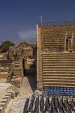 The Roman amphitheater at Caesarea is still used today for conce Royalty Free Stock Photos