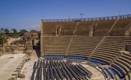 The Roman amphitheater at Caesarea is still used today for conce Royalty Free Stock Images