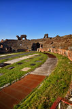 The Roman Amphitheater of Capua. Italy. The Amphitheater of Santa Maria Capua Vetere, the second biggest roman amphitheater, tourist destination for cultural Stock Photo