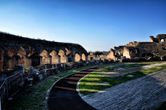 The Roman Amphitheater of Capua. Italy. The Amphitheater of Santa Maria Capua Vetere, the second biggest roman amphitheater, tourist destination for cultural Royalty Free Stock Images