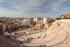 Roman amphitheater in Cartagena Stock Photo