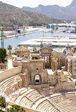 Roman Amphitheater in Cartagena, Murcia, Spain Stock Photography