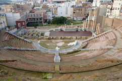 Roman amphitheater in Cartagena Royalty Free Stock Images