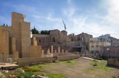 Roman amphitheater in Cartagena Stock Photos