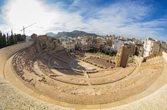 Roman amphitheater in Cartagena Stock Images