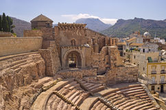 Roman Amphitheater, Cartagena, Spain Stock Image