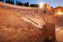 Roman Amphitheater In Cartagena, Spain Stock Photos