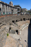 Roman amphitheater in Catania, Sicily, Italy Royalty Free Stock Photo