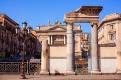 Roman amphitheater, Catania Stock Image