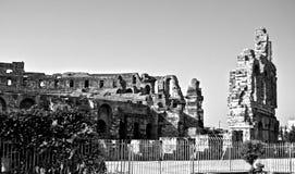 Roman amphitheater in the city of El Jem Royalty Free Stock Photos
