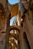 Roman amphitheater in the city of El Jem Royalty Free Stock Photo