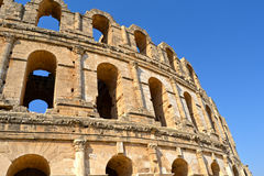 Roman amphitheater in the city of El Jem Stock Photos