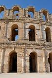 Roman amphitheater in the city of El Jem Stock Photography