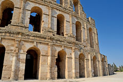Roman amphitheater in the city of El Jem Royalty Free Stock Photography