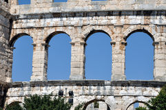 Roman amphitheater, colosseum in Pula, Croatia Stock Image