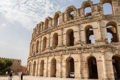 Roman Amphitheater di Thysdrus, EL Jem, Tunisia immagini stock