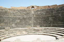 Roman amphitheater at Dougga - the former capital of Numidia Royalty Free Stock Image