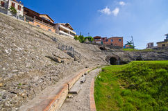 Roman amphitheater in Durres, Albania Royalty Free Stock Image
