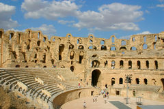 Roman amphitheater of El-Jam, colosseum Royalty Free Stock Photo