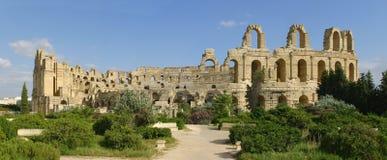 Roman amphitheater of El-Jam, colosseum Stock Images