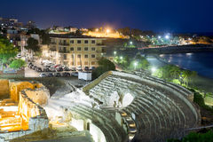 The Roman amphitheater in evening time. Tarragona Royalty Free Stock Images