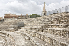 Roman amphitheater, France Stock Photo