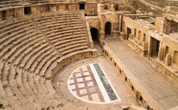Free Roman Amphitheater In Jerash Stock Photos - 34895973