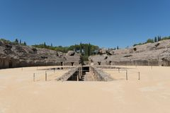 Roman Amphitheater, Italica Spain Fotografía de archivo libre de regalías