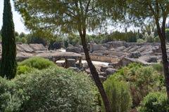 Roman Amphitheater, Italica Spain Imagen de archivo libre de regalías