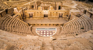 Roman amphitheater in Jerash Royalty Free Stock Image