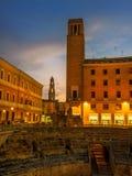 Roman Amphitheater in Lecce fotografia stock libera da diritti