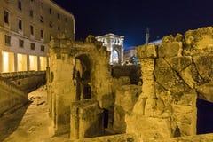 Roman amphitheater of Lecce, Italy Stock Image