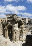 Roman amphitheater of Lecce, Italy Royalty Free Stock Images